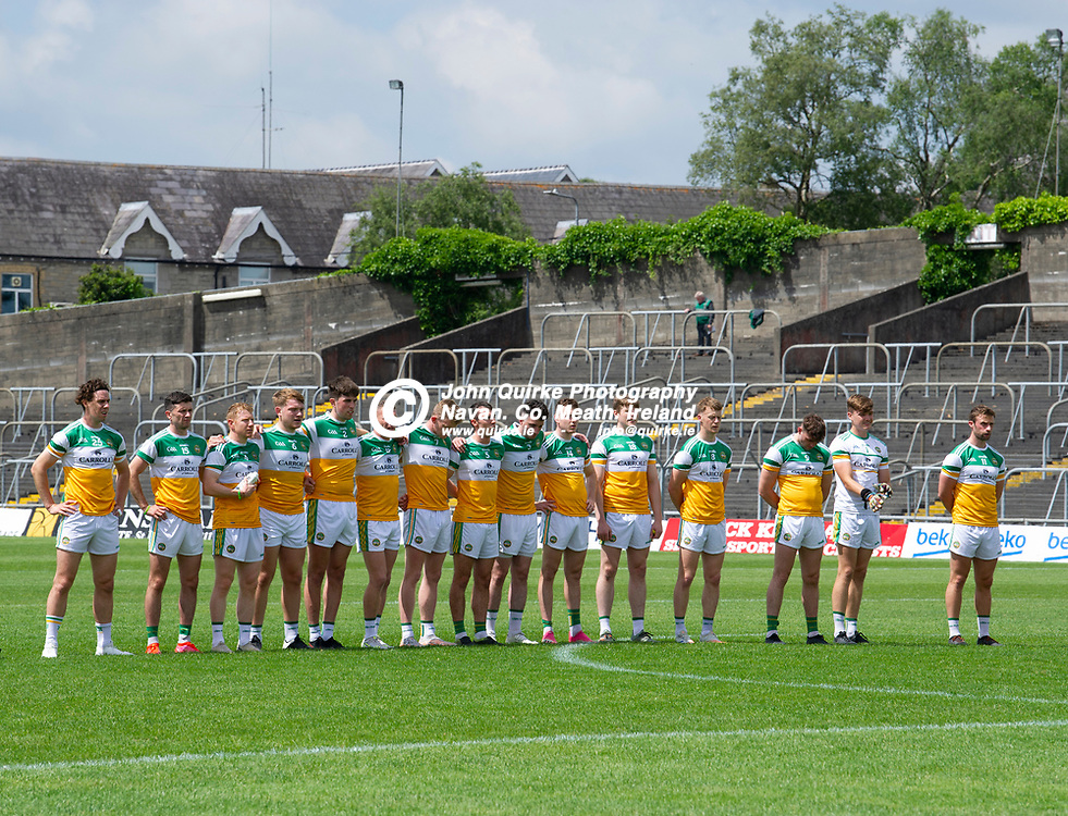27-06-21. Offaly v Louth - Leinster Senior Football Championship at Pairc Tailteann, Navan.<br /> The Offaly team which defeated Louth.<br /> Photo: John Quirke / www.quirke.ie<br /> ©John Quirke Photography, 16 Proudstown Road, Navan. Co. Meath. (info@quirke.ie / 046-9028461 / 087-2579454).