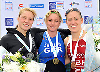 Photo: Paul Greenwood/Richard Lane Photography. Strathclyde Park Elite Triathlon. 17/05/2009. <br />Pictured are LtR: Scotland's Kerry Lang, England's Jodie Swallow and England's Jodie Stimpson.
