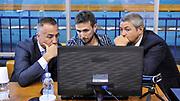DESCRIZIONE : Campionato 2014/15 Serie A Beko Grissin Bon Reggio Emilia - Dinamo Banco di Sardegna Sassari Finale Playoff Gara7 Scudetto<br /> GIOCATORE : Carmelo Paternicà Luigi LaMonica<br /> CATEGORIA : Arbitro Referee Instant Replay<br /> SQUADRA : AIAP<br /> EVENTO : LegaBasket Serie A Beko 2014/2015<br /> GARA : Grissin Bon Reggio Emilia - Dinamo Banco di Sardegna Sassari Finale Playoff Gara7 Scudetto<br /> DATA : 26/06/2015<br /> SPORT : Pallacanestro <br /> AUTORE : Agenzia Ciamillo-Castoria/L.Canu