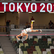 TOKYO, JAPAN August 3:   Ernest John Obiena of the Philippines in action during the Pole Vault Final for Men at the Olympic Stadium during the Tokyo 2020 Summer Olympic Games on August 3rd, 2021 in Tokyo, Japan. (Photo by Tim Clayton/Corbis via Getty Images)