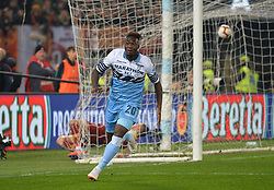March 2, 2019 - Rome, Lazio, Italy - Felipe Caicedo of AS Lazio celebrates after scoring goal 1-0 during the Italian Serie A football match between S.S. Lazio and A.S Roma at the Olympic Stadium in Rome, on march 02, 2019. (Credit Image: © Silvia Lore/NurPhoto via ZUMA Press)