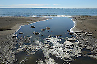 River enters sea, Mediterranean, Mediterraneo, Estepona, Malaga, Andalucia, Andalusia, Spain, Espana, Costa del Sol, tourism, travel, holidays, 201302201099..Copyright Image from Victor Patterson, 54 Dorchester Park, Belfast, UK, BT9 6RJ..Tel: +44 28 9066 1296.Mob: +44 7802 353836.Voicemail +44 20 8816 7153.Skype: victorpattersonbelfast.Email: victorpatterson@me.com.Email: victorpatterson@ireland.com (back-up)..IMPORTANT: If you wish to use this image or any other of my images please go to www.victorpatterson.com and click on the Terms & Conditions. Then contact me by email or phone with the reference number(s) of the image(s) concerned.
