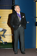 28 August 2006: 2006 inductee Phil Anschutz watches a video honoring him. The National Soccer Hall of Fame Induction Ceremony was held at the National Soccer Hall of Fame in Oneonta, New York.