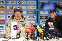 Ilka Stuhec and Darja Crnko during press conference after the end of Alpine Ski season 2018/19, on March 25, 2019, in Narodni dom, Maribor, Slovenia. Photo by Milos Vujinovic / Sportida