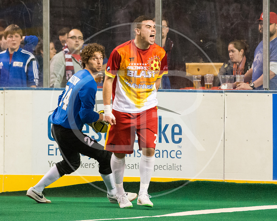 The Baltimore Blast defeat the Missouri Comets in the Eastern Conference Final, 6-4