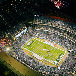 Aerial view of lincoln financial field, eagles vs the cleveland browns