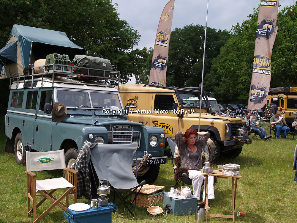 Land Rover Stand, British Autojumble Waalwijk, Netherlands, on 30 June 2013