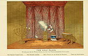 The Holy Place [Holy of Holies] Overlaid with Pure Gold, with the Embroidered Curtains From the book ' The Tabernacle, the priesthood, and the offerings ' by Soltau, Henry W., 1805-1875 Published by Morgan and Scott, London 1875