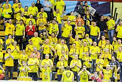 Fans of Gorenje during handball match between RK Gorenje Velenje (SLO) and Pfadi Winterthur (SUI) in Group Phase of EHF European Cup 2014/15, on March 8, 2015 in Rdeca dvorana, Velenje, Slovenia. Photo by Vid Ponikvar / Sportida