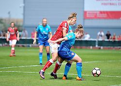 Yana Daniels of Bristol City Women maintains pressure on Arsenal Ladies - Mandatory by-line: Paul Knight/JMP - 20/05/2018 - FOOTBALL - Stoke Gifford Stadium - Bristol, England - Bristol City Women v Arsenal Ladies - FA Women's Super League 1