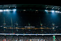 General View of Bristol City fans in the upper two tiers of the South Stand - Rogan/JMP - 09/01/2018 - Etihad Stadium - Manchester, England - Manchester City v Bristol City - Carabao Cup Semi Final First Leg.