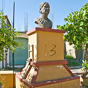 Statue in downtown Zihuatanejo, Mexico. Bust of a woman.