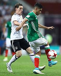 June 29, 2017 - Sebastian Rudy da Alemanha disputa lance com Raul Jimenez do México durante partida entre Alemanha x México válida pelas semifinais da Copa das Confederações 2017, nesta quinta-feira (29), realizada no Estádio Olímpico de Sochi, em Sochi, na Rússia. (Credit Image: © Heuler Andrey/Fotoarena via ZUMA Press)