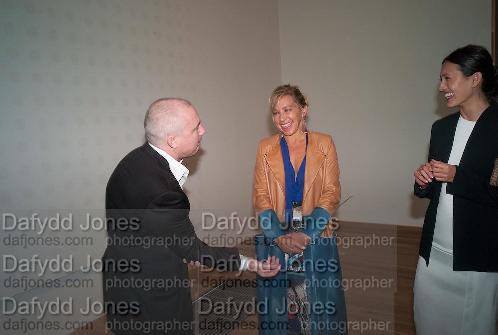 DAMIEN HIRST; MAYA NORMAN; ELENA GEUNA, Damien Hirst, Tate Modern: dinner. 2 April 2012.