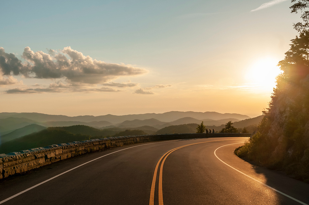 Sunset view near the Caylor Gap Overlook on the Foothills Parkway in Great Smoky Mountains National Park in Wears Valley, Tennessee on Tuesday, August 11, 2020. Copyright 2020 Jason Barnette