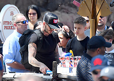 Excl: David and Victoria Beckham take their kids on a fun day out - 15 April 2018