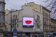"""2020-02-02 Kraków. Teatr """"Bagatela"""" im. Tadeusza Boya-Żeleńskiego –  znajdujący się przy ul. Karmelickiej 6 na rogu z ul. Krupniczą 1."""
