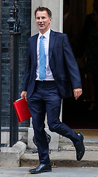 © Licensed to London News Pictures. 10/07/2018. London, UK. Foreign Secretary Jeremy Hunt leaves 10 Downing Street after the Cabinet meeting. Photo credit: Rob Pinney/LNP
