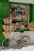 Traditional ibizan shop that sells bags and natural bee wax