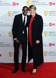 Sir Mo Farah and Clare Balding in the press room at the Virgin TV British Academy Television Awards 2018 held at the Royal Festival Hall, Southbank Centre, London.