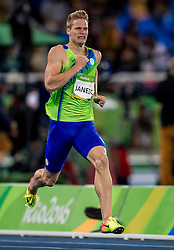 Luka Janezic of Slovenia competes in the Men's 400m qualification on Day 7 of the Rio 2016 Olympic Games at the Olympic Stadium on August 12, 2016 in Rio de Janeiro, Brazil. Photo by Ronald Hoogendoorn / Sportida