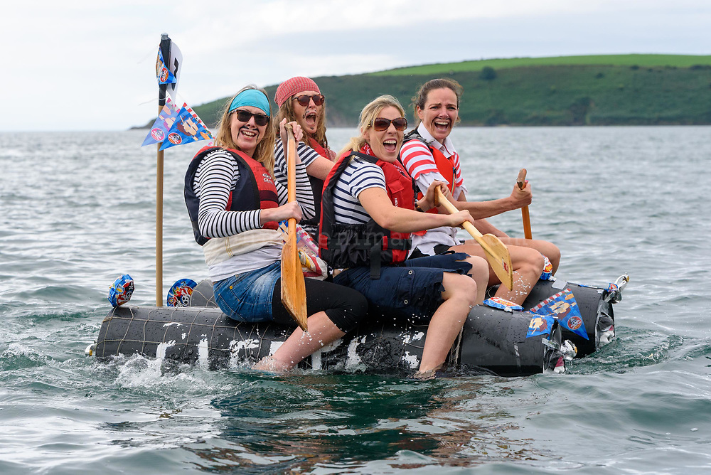 The Lee Valley Pirates team competing in the RNLI raft race at the Kinsale Regatta over the weekend.<br /> Picture. John Allen