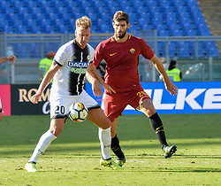 September 23, 2017 - Rome, Italy - Federico Fazio and  Maxi Lopez  during the Italian Serie A football match between A.S. Roma and Udinese at the Olympic Stadium in Rome, on september 23, 2017. (Credit Image: © Silvia Lore/NurPhoto via ZUMA Press)