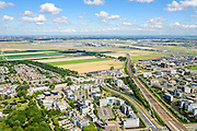 Nederland, Noord-Holland, Hoofddorp, 01-08-2016; Hoofddorp centrum, omgeving NS station en kantorenpark Beukenhorst. Schiphol airport aan de horizon.<br /> Hoofddorp, railway station and environment.<br /> luchtfoto (toeslag op standard tarieven);<br /> aerial photo (additional fee required);<br /> copyright foto/photo Siebe Swart