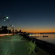 La Paz harbor at sunset