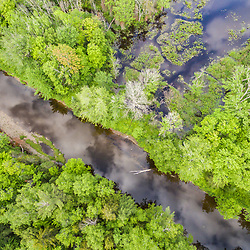 The West Branch of the Pleasant River near Silver Lake in Piscataquis County, Maine. Near Greenville.