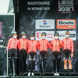KASPER Romy ( GER ) - BUIJSMAN Nina ( NED ) – NILSSON Hanna ( SWE ) - VAN DER BURG Nancy ( NED ) - KOSTER Anouska ( NED ) - VOLLERING Demi ( NED ) - PARKHOTEL VALKENBURG ( PHV ) - NED – Querformat - quer - horizontal - Landscape - Event/Veranstaltung: Liège Bastogne Liège - Category/Kategorie: Cycling - Road Cycling - Elite Women - Elite Men - Location/Ort: Europe – Belgium - Wallonie - Liège - Start: Bastogne-Womens Race - Liège-Mens Race - Finish: Liège - Discipline: Road Cycling - Distance: 257 km - Mens Race - 135 km - Womens Race - Date/Datum: 04.10.2020 – Sunday - Photographer: © Arne Mill - frontalvision.com