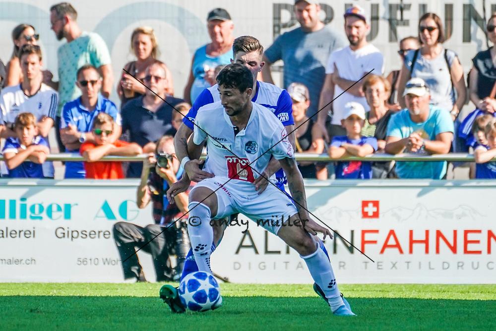 15.09.2019; Wohlen; FUSSBALL SCHWEIZER CUP - FC Wohlen - FC Luzern;<br /> Ryder Matos (Luzern) Gianluca Calbucci (Wohlen) <br /> (Andy Mueller/freshfocus)