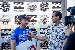 December 11, 2017 - Haleiwa, Hawaii, U.S. - Conner Coffin of USA advances to round three after placing first in round one heat 3 of the 2017 WSL Billabong Pipe Masters at Pipeline, Oahu, Hawaii, USA..Billabong Pipe Masters 2017. (WSL via ZUMA Wire/ZUMAPRESS.com)