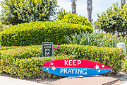 San Clemente Covid19 Keep Praying Surfboard