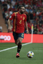 Spain national team player Dani Carvajal during UEFA EURO 2020 Qualifier match between Spain and Sweden at Santiago Bernabeu Stadium in Madrid, Spain. June 10, 2019. Photo by A. Perez Meca/Alterphotos/ABACAPRESS.COM