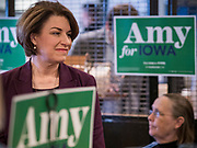 08 NOVEMBER 2019 - DES MOINES, IOWA: US Senator AMY KLOBUCHAR (D-MN) speaks to Iowans during a campaign event in Ankeny, a suburb of Des Moines. Sen. Klobuchar is campaigning to be the Democratic nominee for the US Presidency. Iowa holds the first selection event of the Presidential election cycle. The Iowa caucuses are Feb. 3, 2020.           PHOTO BY JACK KURTZ