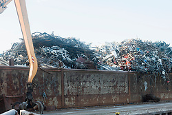 Heap of scarp metal for recycling at scrap yard