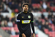 Omar Sowunmi (17) of Yeovil Town during the EFL Sky Bet League 2 match between Swindon Town and Yeovil Town at the County Ground, Swindon, England on 10 April 2018. Picture by Graham Hunt.