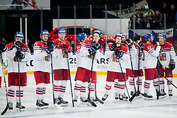 Players of Czech Republic celebrate after penalty shots during the 2017 IIHF Men's World Championship group B Ice hockey match between National Teams of Finland and Czech Republic, on May 8, 2017 in Accorhotels Arena in Paris, France. Photo by Vid Ponikvar / Sportida