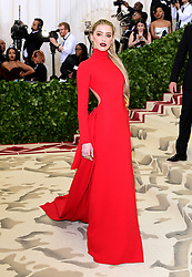 Rosie Huntington-Whiteley attending the Metropolitan Museum of Art Costume Institute Benefit Gala 2018 in New York, USA. PRESS ASSOCIATION Photo. Picture date: Picture date: Monday May 7, 2018. See PA story SHOWBIZ MET Gala. Photo credit should read: Ian West/PA Wire