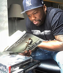 """50 Cent releases a photo on Twitter with the following caption: """"""""Ok I just learned something @cthagod keep up the good work stay hater free #bellator #lecheminduroi"""""""". Photo Credit: Twitter *** No USA Distribution *** For Editorial Use Only *** Not to be Published in Books or Photo Books ***  Please note: Fees charged by the agency are for the agency's services only, and do not, nor are they intended to, convey to the user any ownership of Copyright or License in the material. The agency does not claim any ownership including but not limited to Copyright or License in the attached material. By publishing this material you expressly agree to indemnify and to hold the agency and its directors, shareholders and employees harmless from any loss, claims, damages, demands, expenses (including legal fees), or any causes of action or allegation against the agency arising out of or connected in any way with publication of the material."""