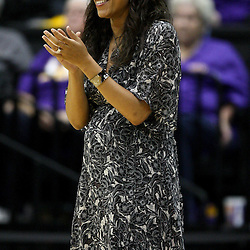 December 13, 2011; Baton Rouge, LA; LSU Lady Tigers head coach Nikki Caldwell against the UCLA Bruins during the first half of a game at the Pete Maravich Assembly Center.  Mandatory Credit: Derick E. Hingle-US PRESSWIRE