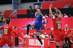 KOLDING, DENMARK - DECEMBER 5: Cristina Neagu during the EHF Euro 2020 Group D match between Poland and Romania in Sydbank Arena, Kolding, Denmark on December 5, 2020. Photo Credit: Allan Jensen/EVENTMEDIA.