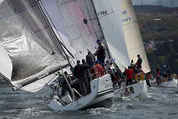 RWYC's Savills Kip Regatta  9-10th May 2015 <br /> Excellent conditions for the opening racing of the Clyde Season<br /> <br /> Class 2's ,  Salamander XXI, sailed by John Corson, reaching with the Class 2 Fleet. <br /> <br /> Credit : Marc Turner / PFM