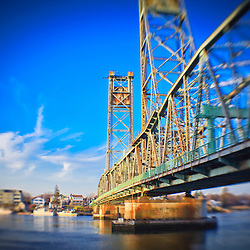 Memorial Bridge, Portsmouth, New Hampshire. Piscataqua River.
