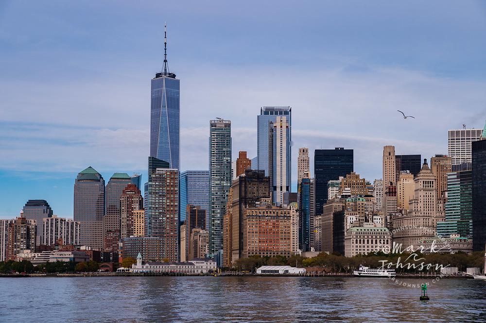 Lower Manhattan skyline, New York, New York, USA