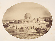 19th century Photography of the Dome of the Rock [Here as Jerusalem, Site of the Temple on Mount Moriah] Photographs, Albumen silver prints, 1857