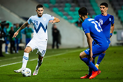 Petar Stojanovic of Slovenia during football match between National Teams of Slovenia and Greece in UEFA Nations League 2020, on September 3, 2020 in SRC Stozice, Ljubljana, Slovenia. Photo by Grega Valancic / Sportida