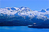 Kachemak Bay below Iceworm Peak and Dixon Glacier of the Kenai Mountains.  Kenai Peninsula, Alaska.