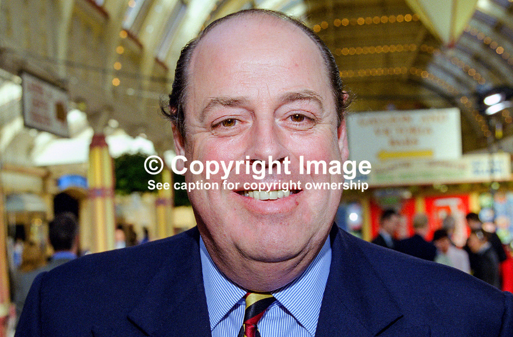 Nicholas Soames, MP, UK,  Conservative Party, annual conference, Blackpool, 199910129.<br /> <br /> Copyright Image from Victor Patterson, Belfast, UK<br /> <br /> t: +44 28 9066 1296 (from Rep of Ireland 048 9066 1296)<br /> m: +44 7802 353836<br /> e: victorpattersonbelfast@gmail.com<br /> <br /> www.images4media.com<br /> <br /> Please see my full Terms and Conditions of Use at https://www.images4media.com/p/terms-conditions - it is IMPORTANT that you familiarise yourself with them.<br /> <br /> Images used online incur an additional cost. This cost should be agreed in writing in advance. Online images must be visibly watermarked i.e. © Victor Patterson or that of the named photographer within the body of the image. The original metadata must not be deleted from images used online.<br /> <br /> This image is only available for the use of the download recipient i.e. television station, newspaper, magazine, book publisher, etc, and must not be passed on to a third party. It is also downloaded on condition that each and every usage is notified within 7 days to victorpattersonbelfast@gmail.com.